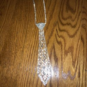 Jewelry - Rhinestone Necklace Tie